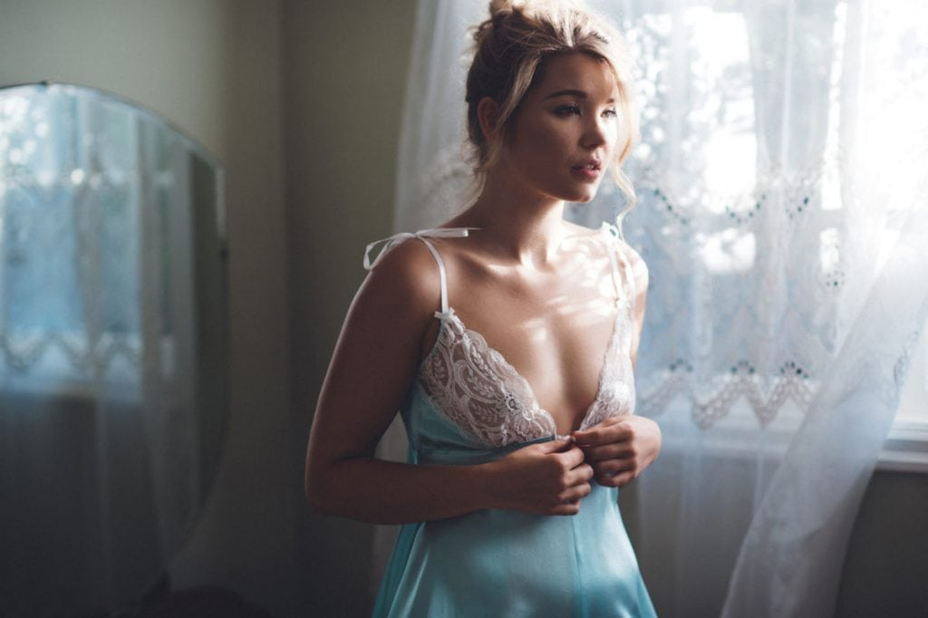 boudoir slip dress